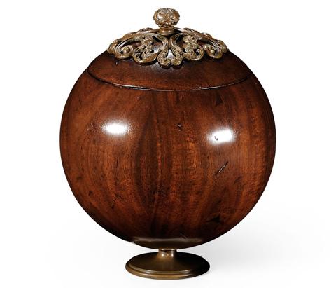 Jonathan Charles - George III Round Walnut Box With Brass Mounts - 494292