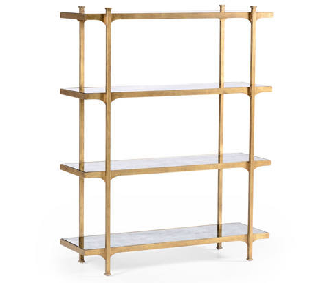 Image of Gilded Iron Four Tier Etagere