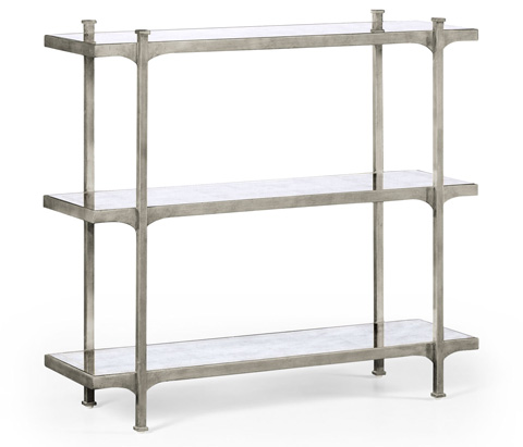 Jonathan Charles - Silver Iron Three-Tier Etagere - 494321-S