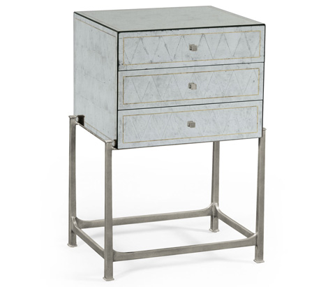 Jonathan Charles - Silver Iron Small Chest Of Drawers - 494379-S