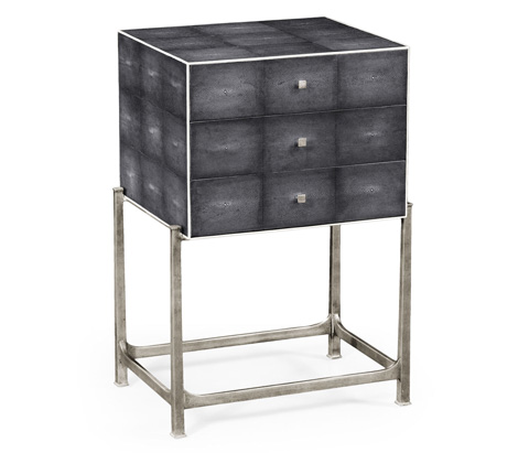 Jonathan Charles - High Chest With Silver Base - 494380-S