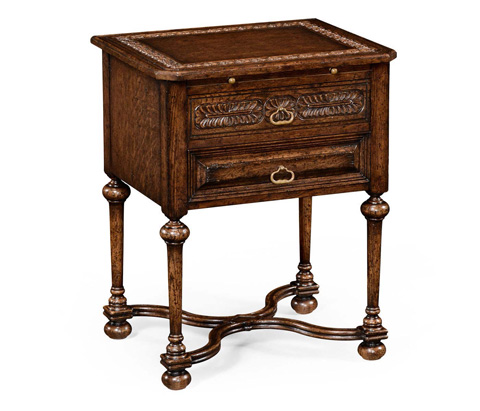Jonathan Charles - Tudorbethan Side Table With Slide - 494470