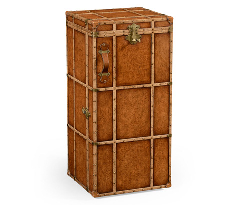 Jonathan Charles - Travel Trunk Style Wine And Cocktail Cabinet - 494487