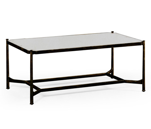 Jonathan Charles - Bronze Rectangular Coffee Table - 494674-B