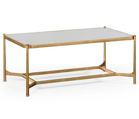 Jonathan Charles - Gilded Rectangular Coffee Table - 494674-G