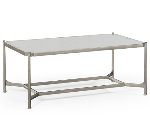 Jonathan Charles - Silver Rectangular Coffee Table - 494674-S