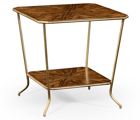 Jonathan Charles - Argentinian Walnut Veneered Square Side Table - 494679