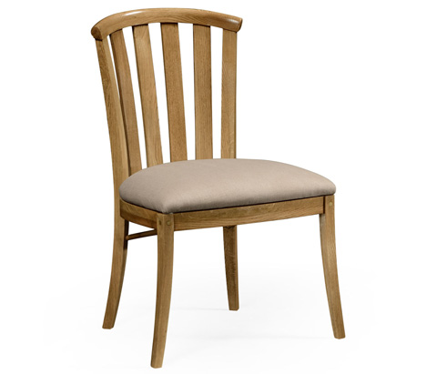 Image of Light Oak Side Chair with Curved Back
