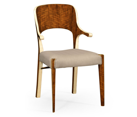 Image of Hyedua and Ivory Finish Arm Chair