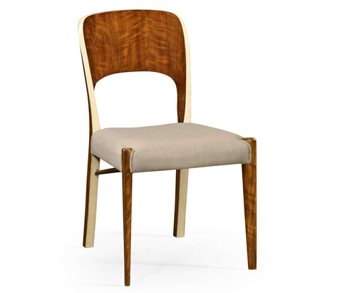 Image of Hyedua And Ivory Finish Side Chair