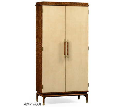 Image of Hyedua and Ivory Finish Tall Drinks Cabinet