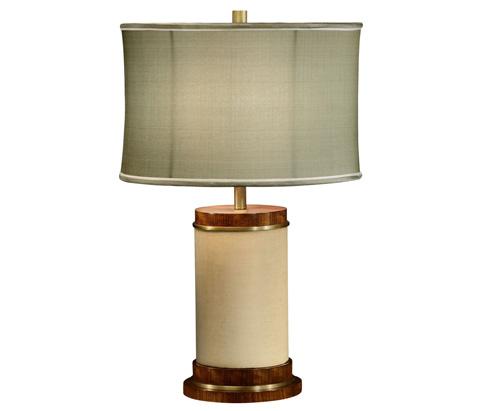 Image of Ivory Finish Hyedua Circular Table Lamp