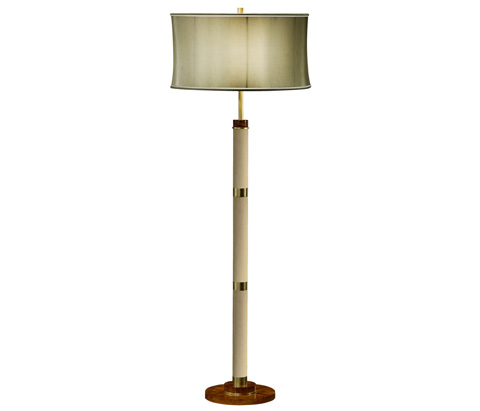 Image of Ivory Finish Hyedua Circular Column Floor Lamp