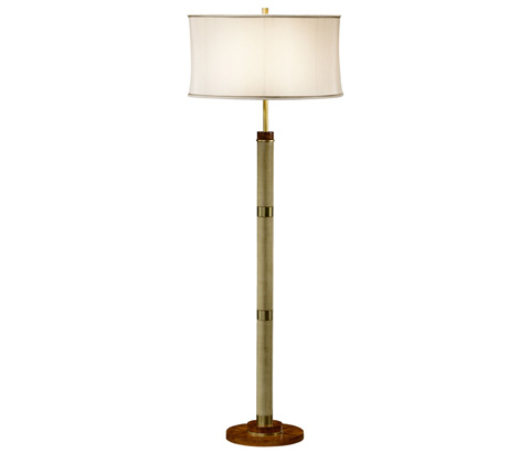 Image of Sage Finish Hyedua Circular Column Floor Lamp