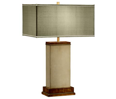 Image of Ivory Finish Hyedua Rectangular Table Lamp