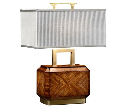 Jonathan Charles - Tea Caddy Zebrano Veneer Table Lamp - 494987-ZEB