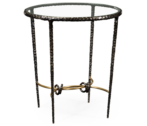 Image of Hammered Iron Circular Side Table