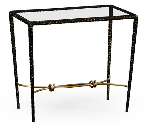 Image of Hammered Iron Rectangular Side Table