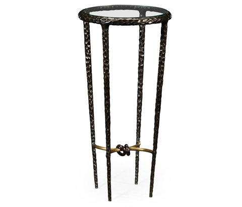 Image of Hammered Iron Circular Wine Table