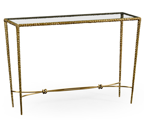Image of Brass Hammered Rectangular Console