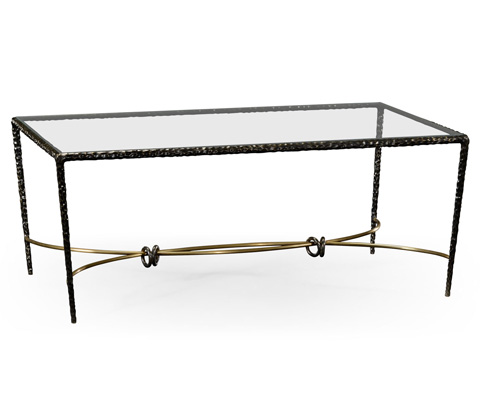 Image of Hammered Rectangular Coffee Table