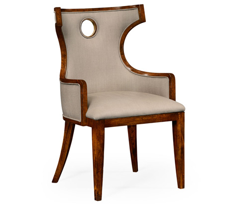 Jonathan Charles - Greek Revival Biedermeier Mahogany Arm Chair - 495046-BMA-AC