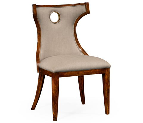 Image of Greek Revival Biedermeier Mahogany Side Chair