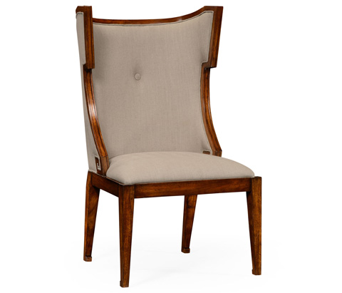 Image of Greek Key Design Biedermeier Walnut Side Chair