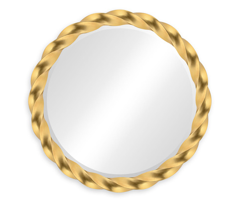 Image of Gilded Twisted Mirror