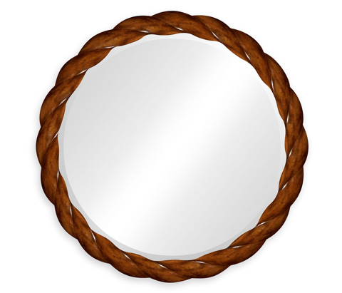 Image of Walnut Twisted Mirror