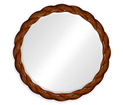 Jonathan Charles - Walnut Twisted Mirror - 495076-WLL