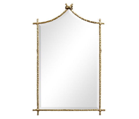 Image of Brass Hammered Wall Mirror