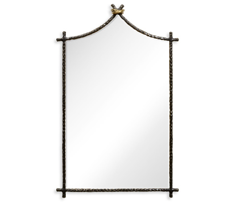 Image of Bronze Hammered Wall Mirror