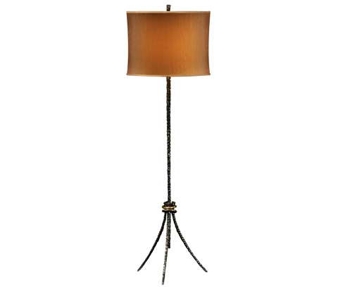 Image of Bronze Hammered Floor Lamp