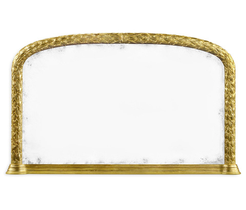 Jonathan Charles - Gold Leaf Overmantle Mirror - 495145-WTG