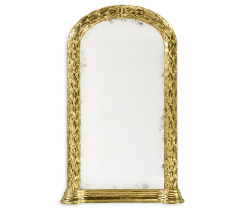 Image of Carved and Water Gilded Hanging Wall Mirror