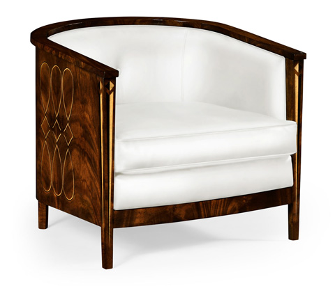 Image of Cream Leather Club Chair
