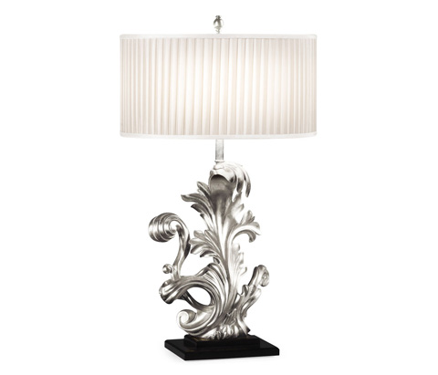 Jonathan Charles - Silver Gilded Carved Table Lamp - 495219-SIL