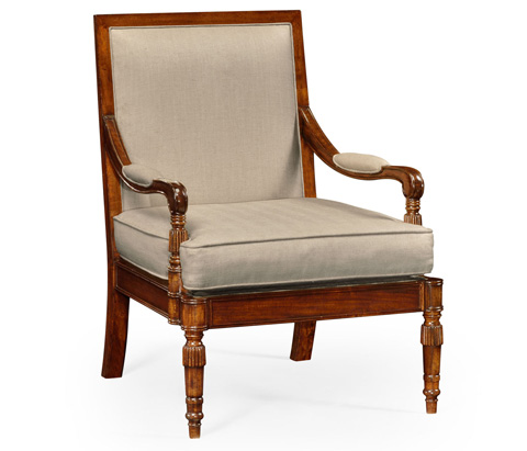 Image of Regency Walnut Occasional Arm Chair