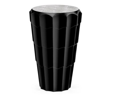 Jonathan Charles - Art Decor Painted Black Side Table - 495241-BLA