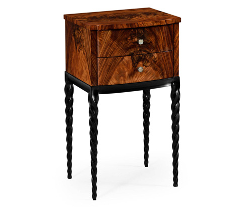 Image of Lamp Table with Black Twisted Legs