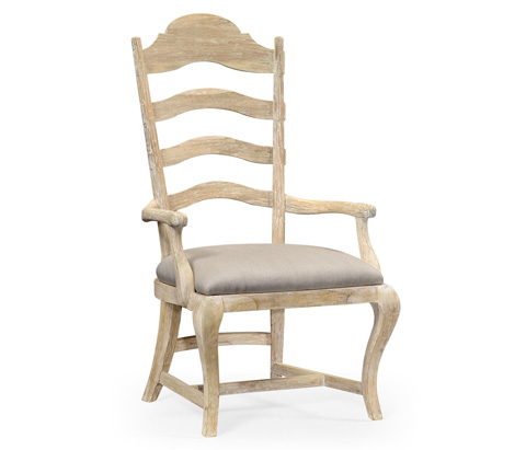 Jonathan Charles - Limed Acacia Dining Arm Chair - 495293-AC-LMA