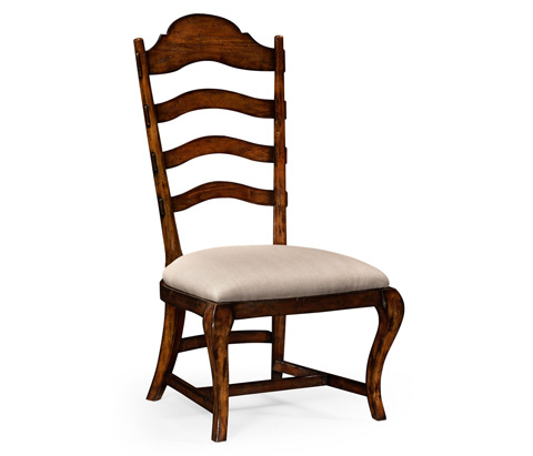 Image of Rustic Walnut Dining Side Chair