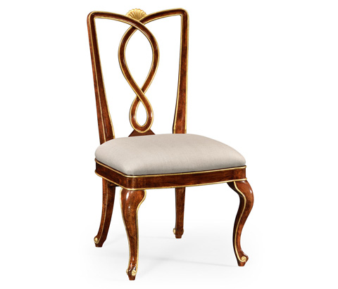 Image of Antique Mahogany Brown Dining Side Chair
