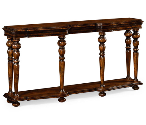 Image of Rectangular Rustic Walnut Console