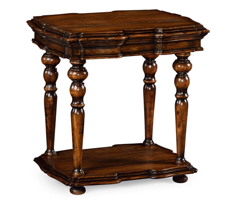 Image of Rustic Walnut Side Table