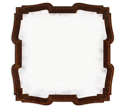 Jonathan Charles - Rustic Walnut Antique Mirror - 495330-RWL
