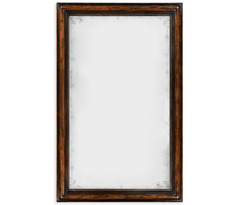 Image of Rectangular Rustic Walnut Antique Mirror