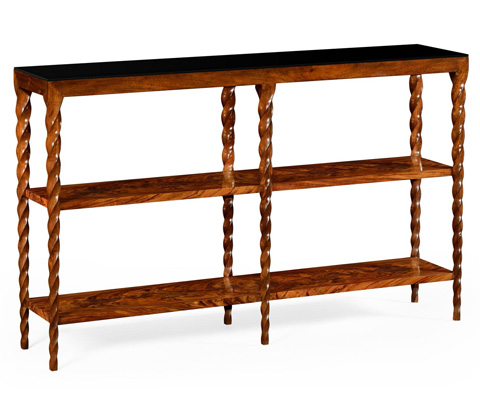 Image of Bookcase with Walnut Twisted Legs