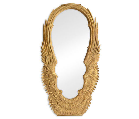 Image of Antique Gold-Leaf Floor Mirror
